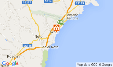 Map Avola Apartment 102416