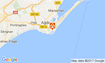 Map Cap d'Agde Villa 112310