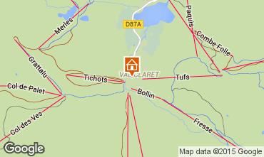 Map Tignes Apartment 3129
