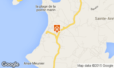 Map Sainte Anne (Martinique) Apartment 58877