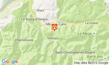 Map Les 2 Alpes Studio apartment 107074