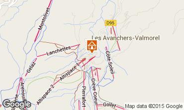 Map Valmorel Apartment 58747