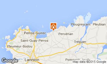 Map Perros-Guirec Apartment 79685