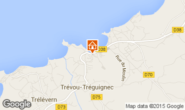 Map Perros-Guirec Apartment 79685