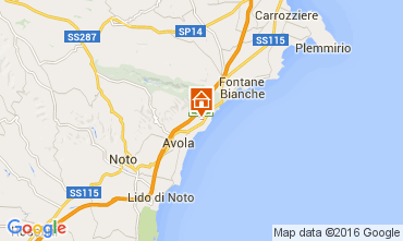 Map Avola Villa 104217
