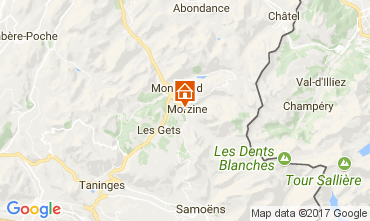 Map Morzine Apartment 110961
