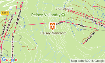 Map Peisey-Vallandry Apartment 114723