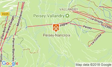 Map Peisey-Vallandry Apartment 114723