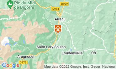 Map Saint Lary Soulan Apartment 4408