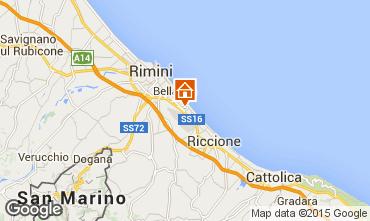 Map Rimini Apartment 21770