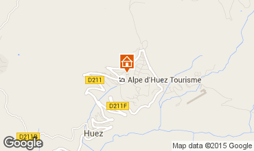 Map Alpe d'Huez Apartment 67379