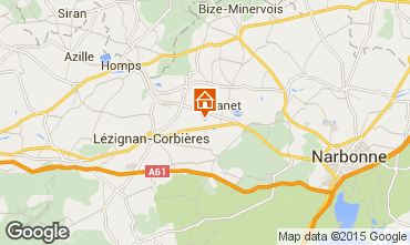 Map Carcassonne Self-catering property 38926