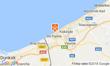 Map De Panne Apartment 115178