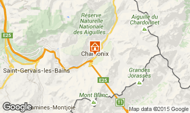 Map Chamonix Mont-Blanc Studio apartment 67211