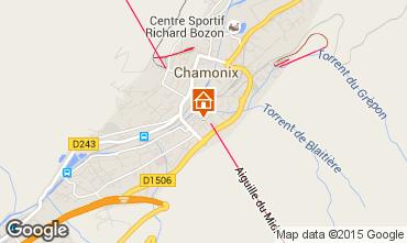 Map Chamonix Mont-Blanc Studio apartment 67211