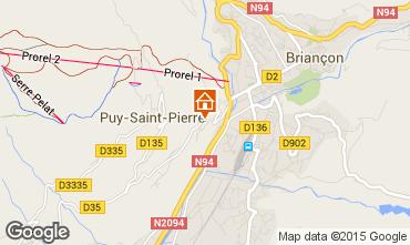 Map Briançon Apartment 68378
