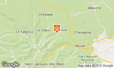 Map Le Lioran Self-catering property 58333