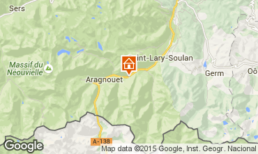 Map Saint Lary Soulan Self-catering property 67181