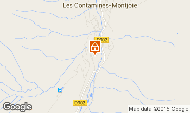 Map Les Contamines Montjoie Studio apartment 946