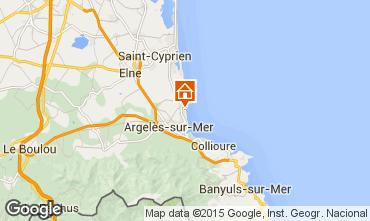 Map Argeles sur Mer Apartment 22084