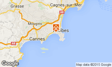 Map Juan les Pins Studio apartment 62424