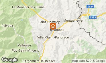 Map Briançon Studio apartment 82889