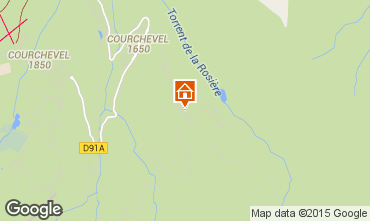 Map Courchevel Apartment 51118