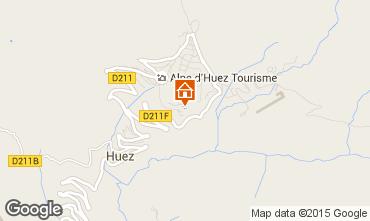 Map Alpe d'Huez Apartment 104