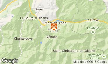 Map Les 2 Alpes Studio apartment 27271