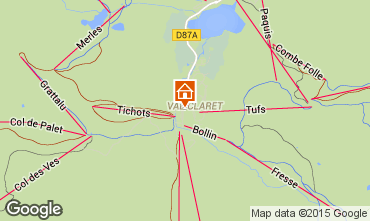 Map Tignes Apartment 3127