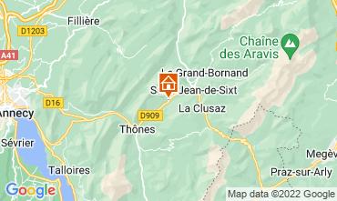 Map La Clusaz Apartment 866