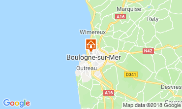 Map Boulogne/mer Self-catering property 116112