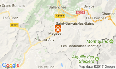 Map Megève Apartment 111916