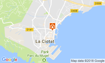 Map La Ciotat Apartment 103352