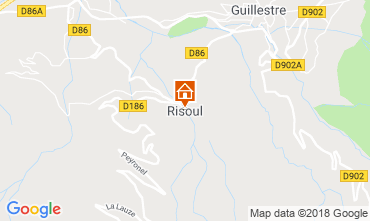 Map Risoul 1850 Studio apartment 2428