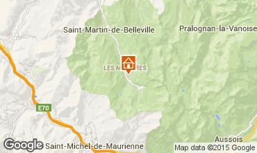 Map Les Menuires One-room studio flat 79863