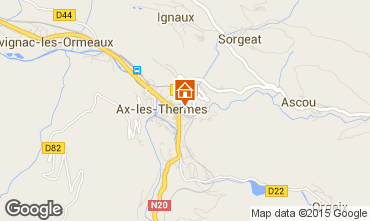 Map Ax Les Thermes Apartment 68250
