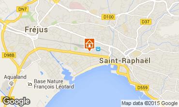 Map Fréjus Studio apartment 93455