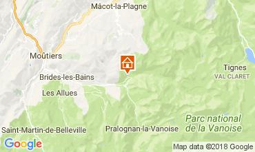 Map Champagny en Vanoise Studio apartment 112836