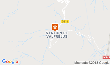 Map Valfréjus Studio apartment 116797