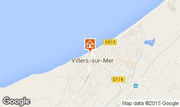 Map Villers sur Mer Studio apartment 81689