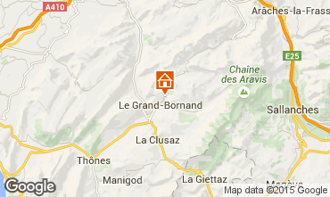 Map Le Grand Bornand Chalet 86535