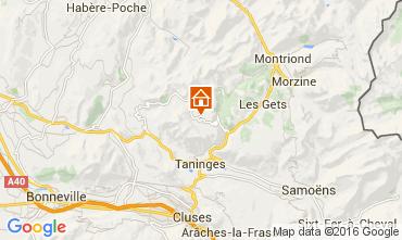Map Praz de Lys Sommand Chalet 103426
