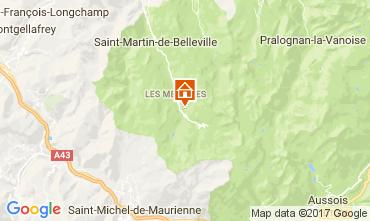 Map Les Menuires Studio apartment 80892