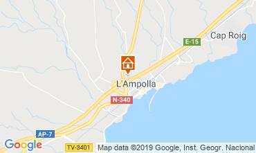 Map L'ampolla Villa 119055
