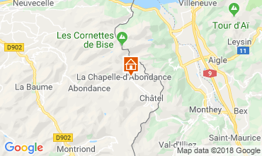 Map La Chapelle d'Abondance Apartment 117457