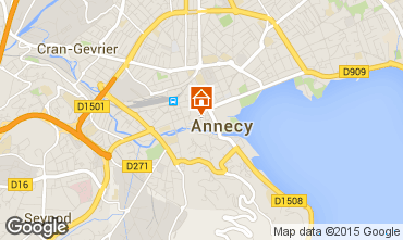 Map Annecy Self-catering property 94014