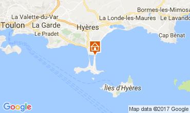 Map Hyères Apartment 111063