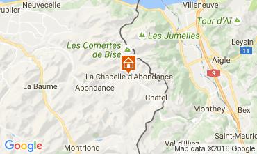 Map La Chapelle d'Abondance Apartment 48985
