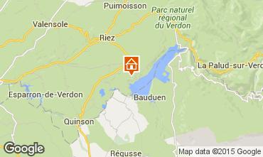 Map Sainte-Croix-du-Verdon Self-catering property 86894